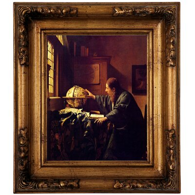 'The astronomer' by Johannes Vermeer Graphic Art Print on Canvas Size: 14.5