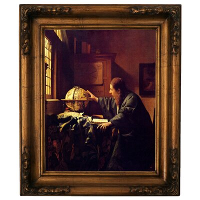 'The astronomer' by Johannes Vermeer Graphic Art Print on Canvas Size: 19.5
