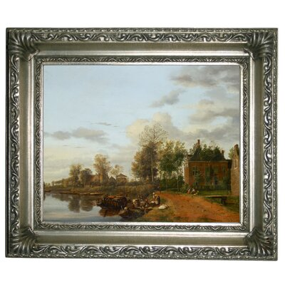 'Country House on the Vliet near Delft 1665' Framed Graphic Art Print on Canvas Size: 11