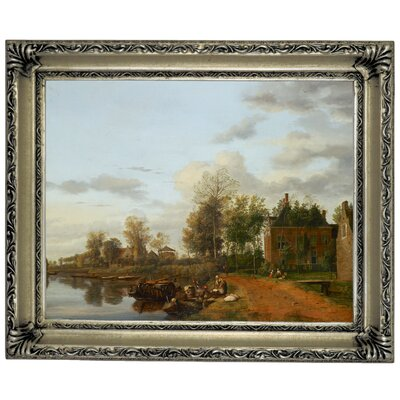 'Country House on the Vliet near Delft 1665' Framed Graphic Art Print on Canvas Size: 14