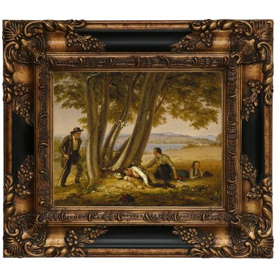 'Boys Caught Napping in a Field 1848' Framed Graphic Art Print on Canvas Size: 13.25