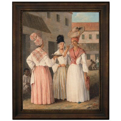 'A West Indian Flower Girl and Two Other Free Women of Colour 1769' Framed Graphic Art Print on Canvas b1019-brunias0005-11x14-cmfr6396g14