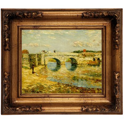 'Bridge Over the Stour' Framed Graphic Art Print on Canvas Size: 12.5
