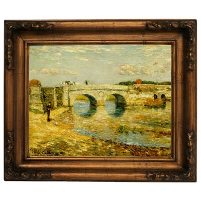 'Bridge Over the Stour' Framed Graphic Art Print on Canvas Size: 15.5