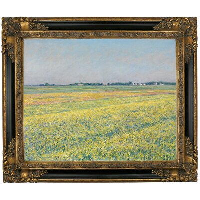 'The Plain of Gennevilliers Yellow Fields 1884' Framed Graphic Art Print on Canvas Size: 16.25