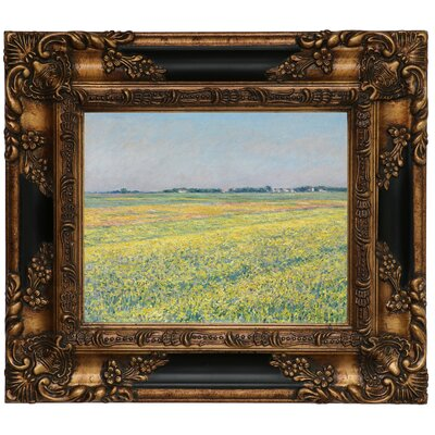 'The Plain of Gennevilliers Yellow Fields 1884' Framed Graphic Art Print on Canvas Size: 25.25