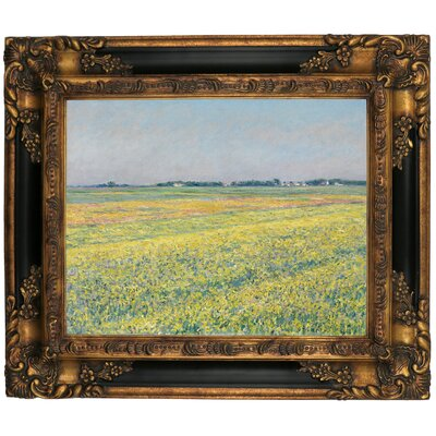 'The Plain of Gennevilliers Yellow Fields 1884' Framed Graphic Art Print on Canvas Size: 21.25