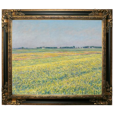 'The Plain of Gennevilliers Yellow Fields 1884' Framed Graphic Art Print on Canvas Size: 13.25
