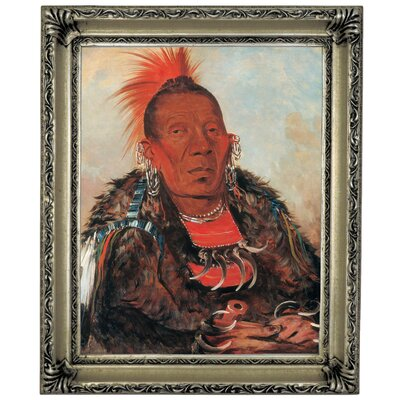 'Wah-ro-noe-sah, The Surrounder, Chief of the Tribe 1832' Framed Graphic Art Print on Canvas Size: 17