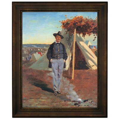 'Portrait of Albert Post 1864' by Winslow Homer Framed Graphic Art Print on Canvas Size: 16.75