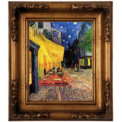 'The Cafe Terrace on the Place du Forum, Arles, at Night' by Vincent van Gogh Graphic Art Print on Canvas Size: 14.5