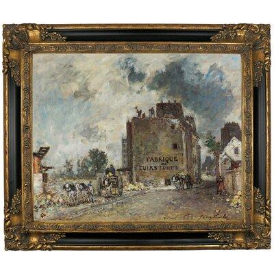 'Demolition Work in Rue Des Franc-Bourgeois St. Marcel 1868' Framed Graphic Art Print on Canvas Size: 21.25