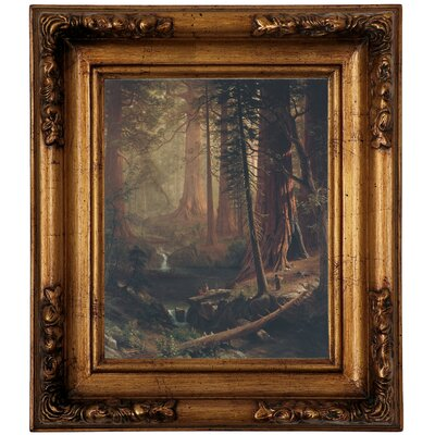 'Giant Redwood Trees of California 1874' Framed Graphic Art Print on Canvas Size: 14.5