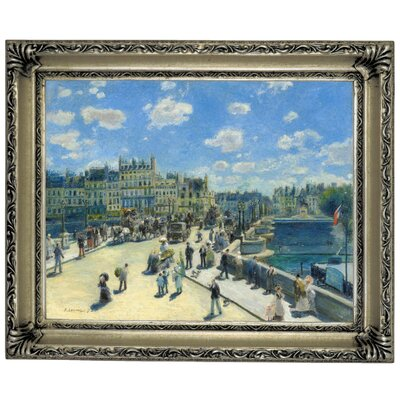'Pont Neuf, Paris 1872' by Pierre-Auguste Renoir Framed Graphic Art Print on Canvas Size: 10.75