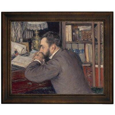 'Henri Cordier 1883' Framed Graphic Art Print on Canvas Size: 10.75