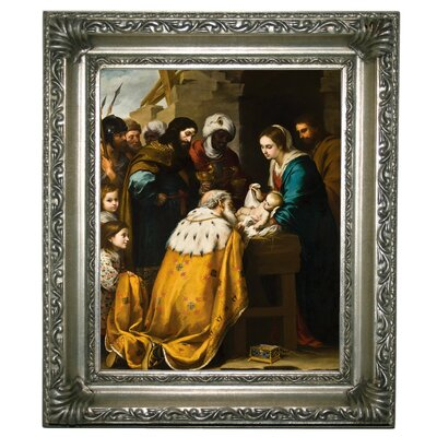 'Adoration of the Magi 1655' Framed Graphic Art Print on Canvas Size: 17