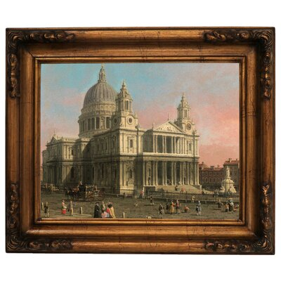 'St. Paul's Cathedral 1754' Framed Graphic Art Print on Canvas Size: 15.5