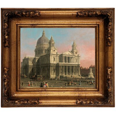 'St. Paul's Cathedral 1754' Framed Graphic Art Print on Canvas Size: 12.5