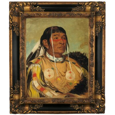 'Sha-co-pay, The Six, Chief of the Plains Ojibwa 1832' Framed Graphic Art Print on Canvas Size: 25.25