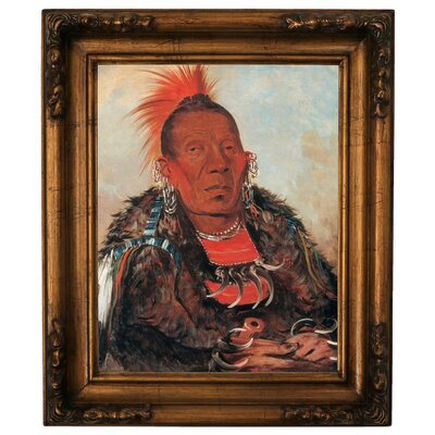 'Wah-ro-noe-sah, The Surrounder, Chief of the Tribe 1832' Framed Graphic Art Print on Canvas Size: 19.5