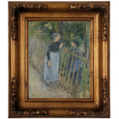 'Conversation 1881' Framed Graphic Art Print on Canvas Size: 14.5