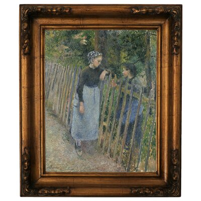 'Conversation 1881' Framed Graphic Art Print on Canvas Size: 19.5
