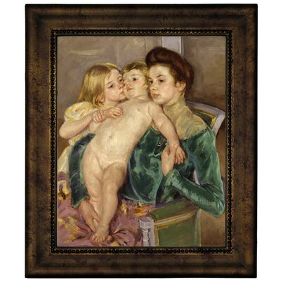'The Caress 1902' by Mary Cassatt Framed Graphic Art Print on Canvas Size: 12.75