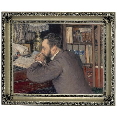 'Henri Cordier 1883' Framed Graphic Art Print on Canvas Size: 14