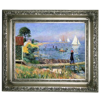 'Bathers at Bellport 1912' Framed Graphic Art Print on Canvas Size: 11