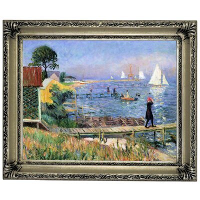 'Bathers at Bellport 1912' Framed Graphic Art Print on Canvas Size: 14