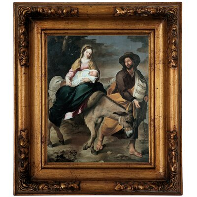 'The Flight into Egypt 1645' Framed Graphic Art Print on Canvas Size: 14.5