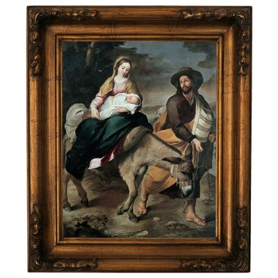 'The Flight into Egypt 1645' Framed Graphic Art Print on Canvas Size: 19.5