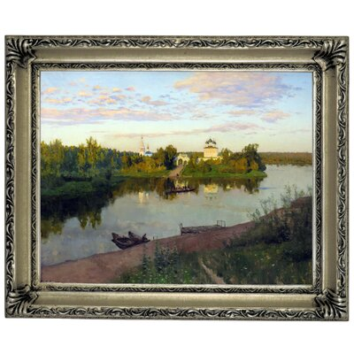 'The Evening Bells Ringing 1892' Framed Graphic Art Print on Canvas Size: 14