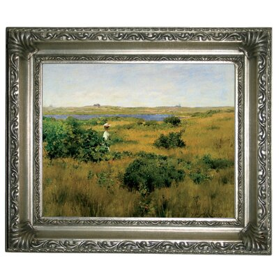 'Summer at Shinnecock Hills 1881' Framed Graphic Art Print on Canvas Size: 11