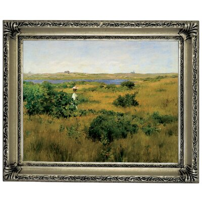 'Summer at Shinnecock Hills 1881' Framed Graphic Art Print on Canvas Size: 14