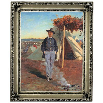 'Portrait of Albert Post 1864' by Winslow Homer Framed Graphic Art Print on Canvas Size: 17