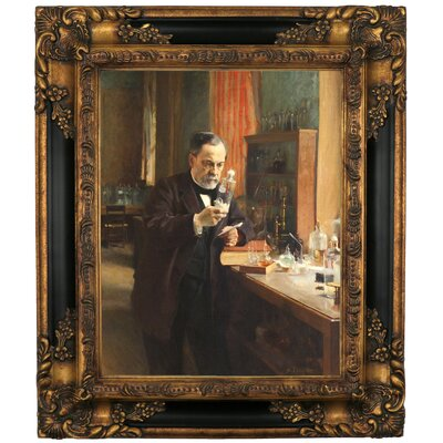 'Portrait of Louis Pasteur in his Laboratory 1885' Framed Graphic Art Print on Canvas Size: 19.25