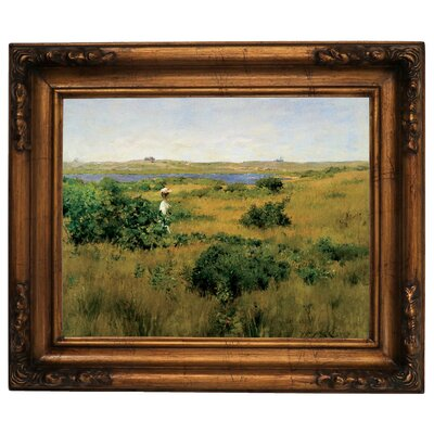 'Summer at Shinnecock Hills 1881' Framed Graphic Art Print on Canvas Size: 12.5