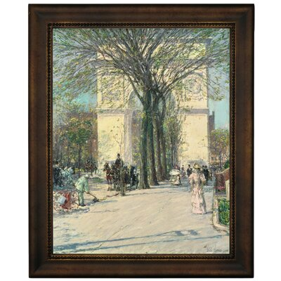 'Washington Arch, Spring 1890' Framed Graphic Art Print on Canvas Size: 16.75