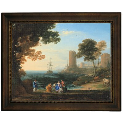 'Coast View with the Abduction of Europa 1645' Framed Graphic Art Print on Canvas Size: 13.75