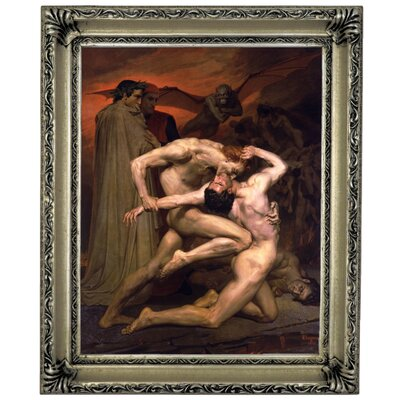 'Dante and Virgil in Hell' Graphic Art Print on Canvas Format: Silver Frame, Size: 11
