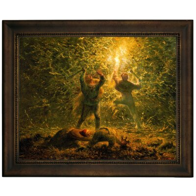 'Birds-Nesters 1874' Framed Graphic Art Print on Canvas Size: 13.75
