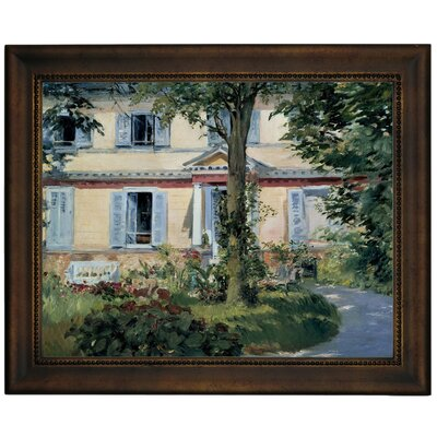'The House at Rueil 1882' by Edouard Manet Framed Graphic Art Print on Canvas Size: 10.75