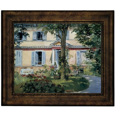 'The House at Rueil 1882' by Edouard Manet Framed Graphic Art Print on Canvas Size: 13.75