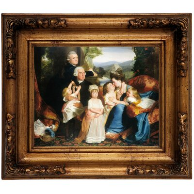 'The Copley Family 1776' Framed Graphic Art Print on Canvas Size: 12.5