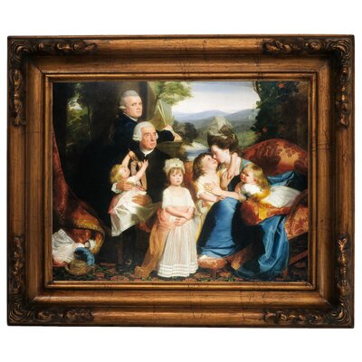 'The Copley Family 1776' Framed Graphic Art Print on Canvas Size: 15.5