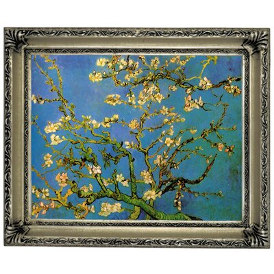 'Blossoming Almond Tree' by Vincent Van Gogh Framed Graphic Art Print on Canvas Size: 14