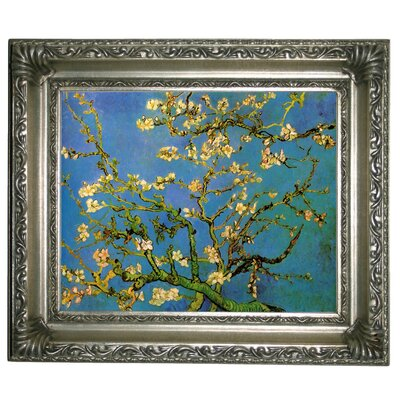 'Blossoming Almond Tree' by Vincent Van Gogh Framed Graphic Art Print on Canvas Size: 11