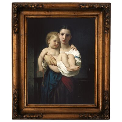 'The Elder Sister 1864' Framed Graphic Art Print on Canvas Size: 19.5