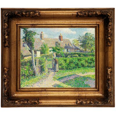 'Peasants Houses, Eragny 1887' by Camille Pissarro Framed Graphic Art Print on Canvas Size: 10.75